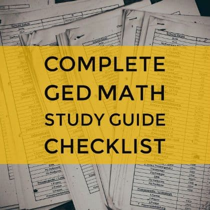 GED Math Study Guide