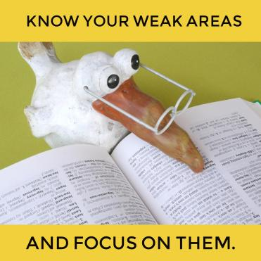 know your weak GED subject areas