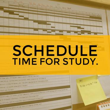 schedule time for GED prep