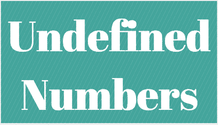 undefined-numbers