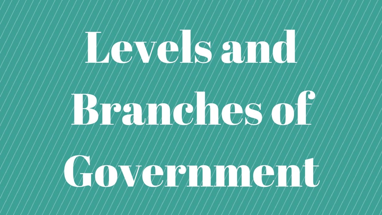 Levels & Branches of Government