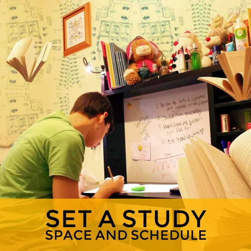 set a study space for GED