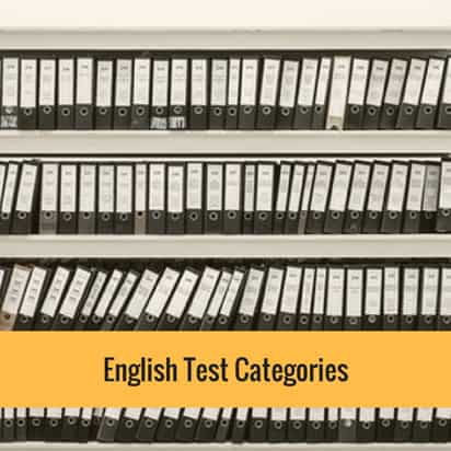 English Test Categories