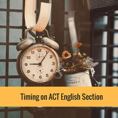 Timing on ACT English Section