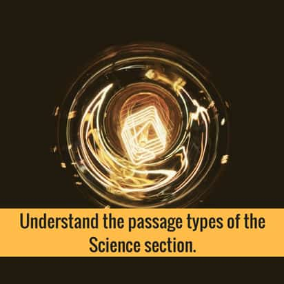Understand the passage types of the Science section