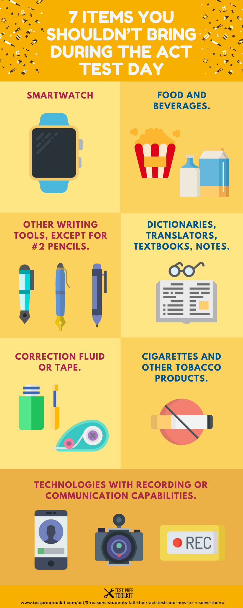 7 Items You Shouldn't Bring During the ACT Test Day - ACT Guide