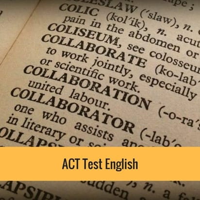 ACT test English