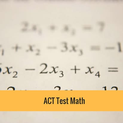 ACT test math