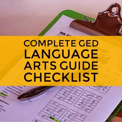 GED language art checklist