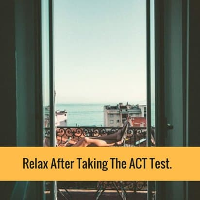 Taking ACT test
