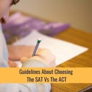 Guidelines About Choosing The SAT Vs ACT