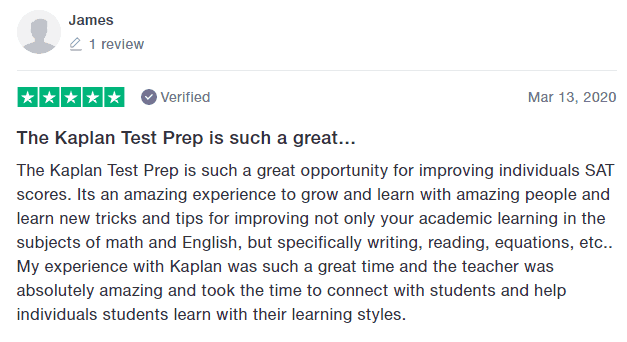 kaplan sat review