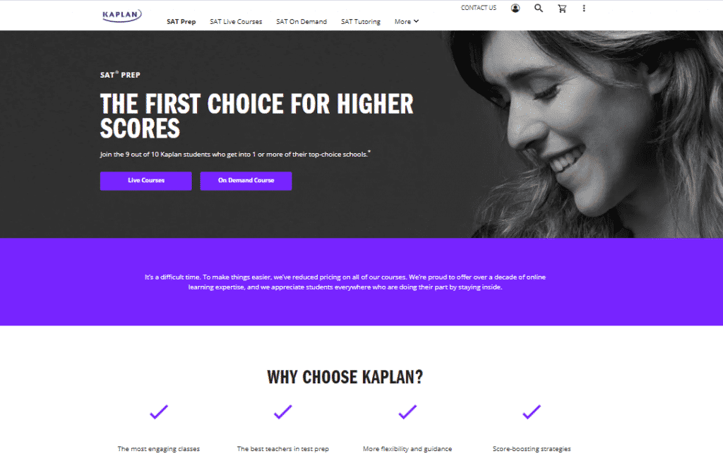 kaplan sat prep review