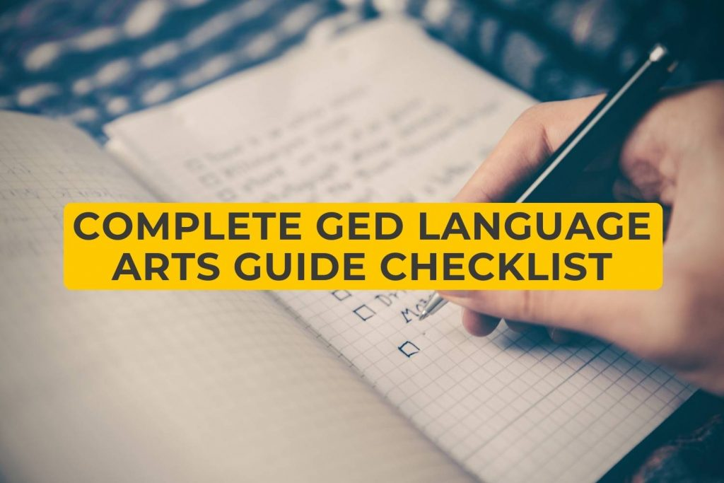 Complete GED Language Arts Guide Checklist