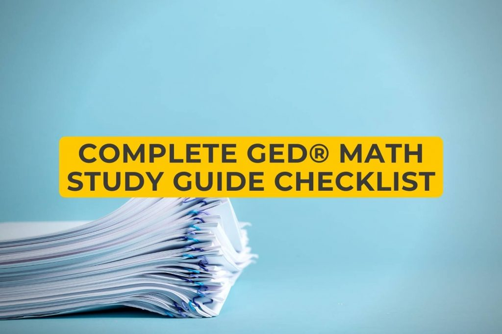 Complete GED Math Study Guide Checklist
