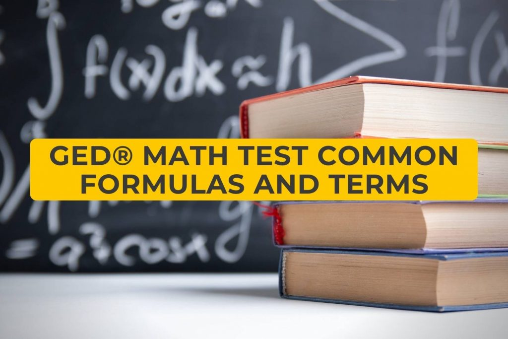 GED Math Test common formulas and terms