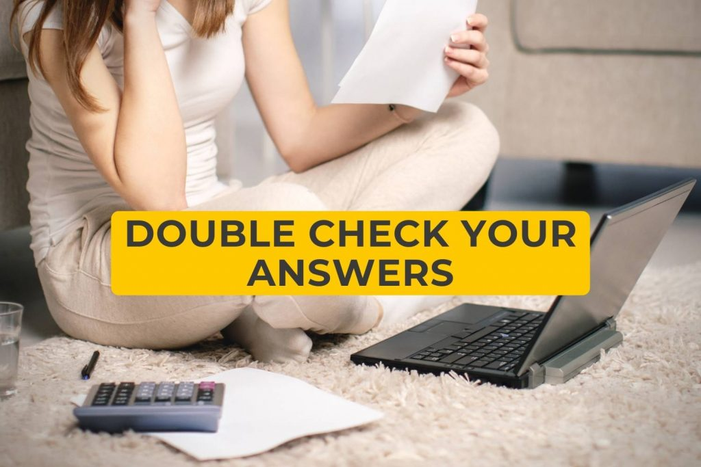 double check your answers