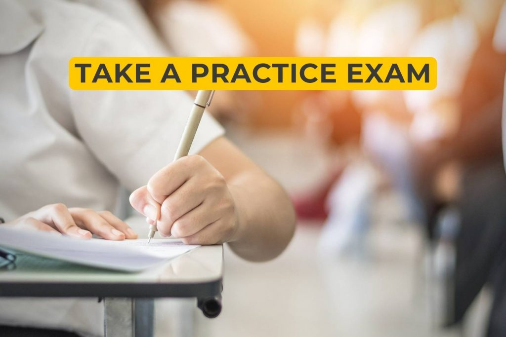 take a practice exam