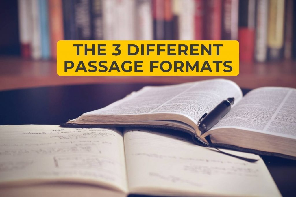 The 3 Different Passage Formats