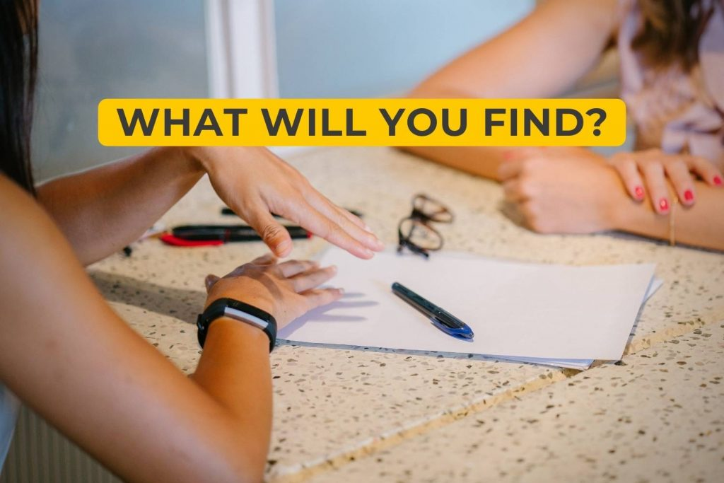What Will You Find?