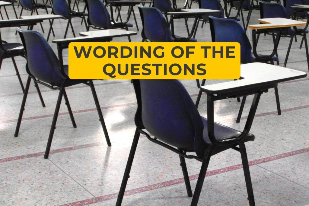 Wording of the Questions