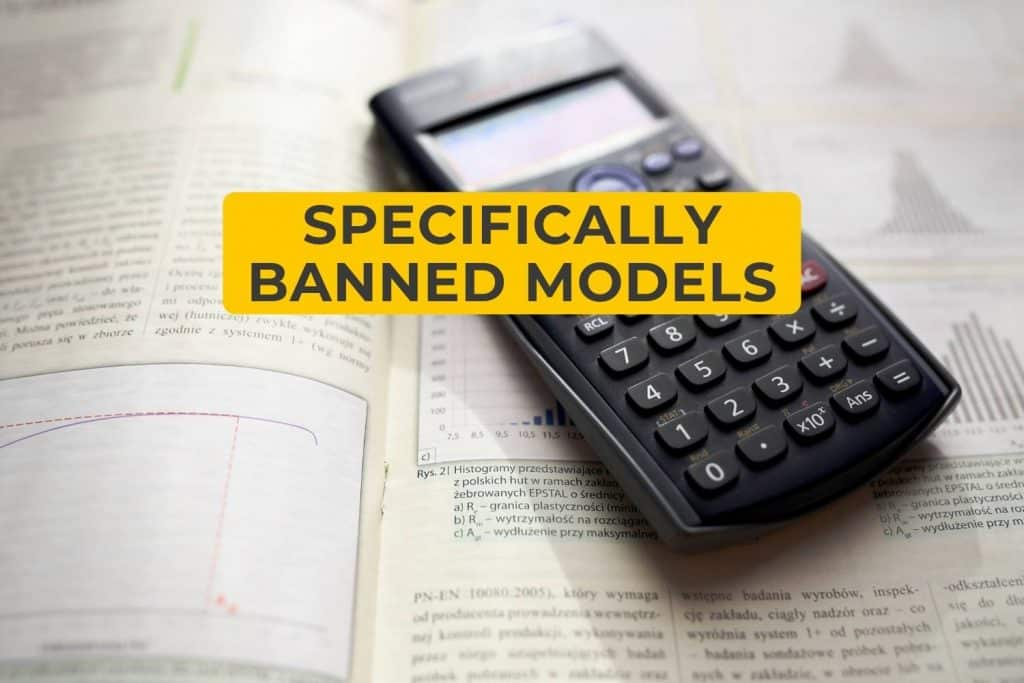 Specifically Banned Models